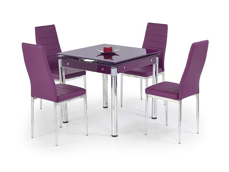 KENT stół rozkładany fioletowy, stal chromowana (1p=1szt)