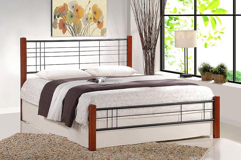 VIERA łóżko 90 cm czereśnia ant./czarny (3p=1szt)
