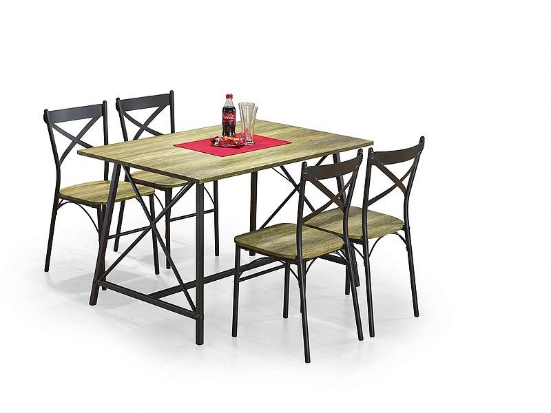 RELIANT zestaw: stół + 4 krzesła, kolor: old vasion / coffe (2p=1szt)