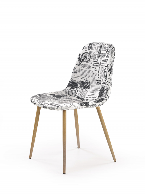 K220 krzesło tapicerka wielobarwny, nogi - dąb miodowy (1p=4szt)