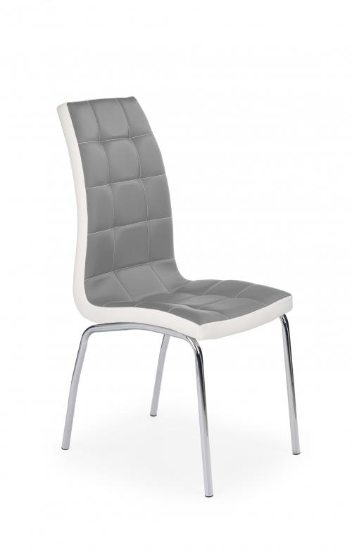 K186 krzesło popielato - biały (1p=4szt)
