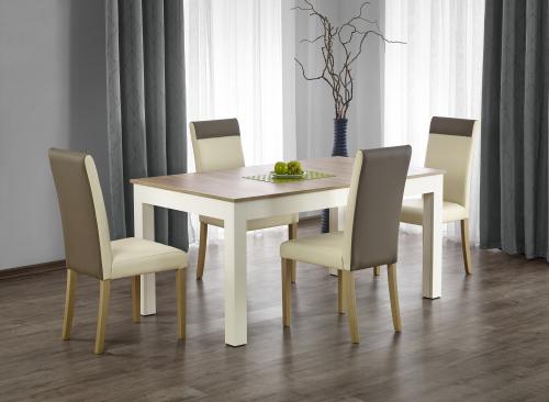 Stół rozkładany SEWERYN  kolor dąb sonoma / biały