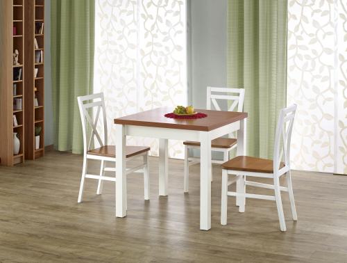 Stół rozkładany GRACJAN kolor olcha / biały