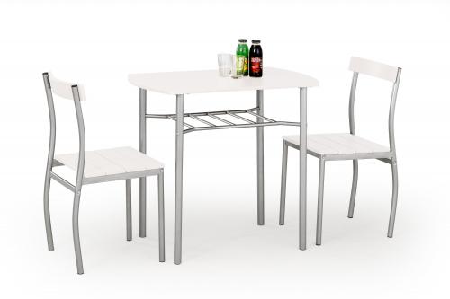 Zestaw: stół LANCE + 2 krzesła biały