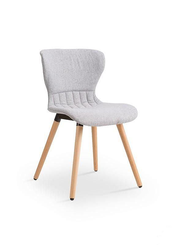 K227 krzesło jasny popiel
