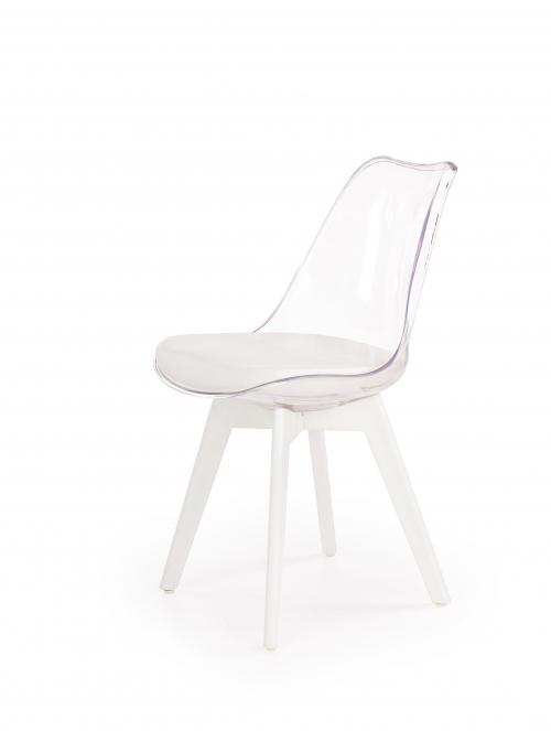 K245 krzesło bezbarwny / biały (1p=2szt)