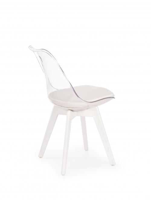 K245 krzesło bezbarwny / biały