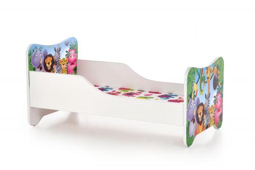 HAPPY JUNGLE łóżko wielobarwny