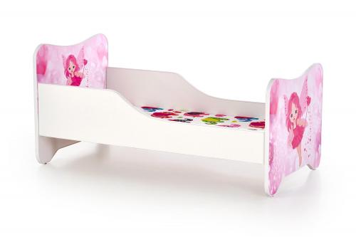 HAPPY FAIRY łóżko biało / różowe
