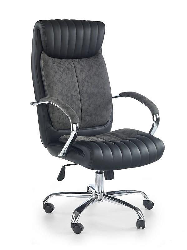 LIGOL fotel gabinetowy czarny-popiel