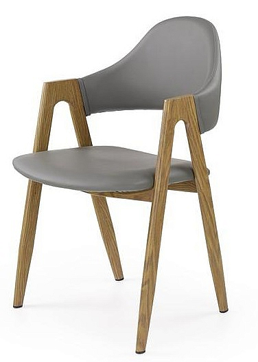 K247 krzesło popiel-dąb miodowy