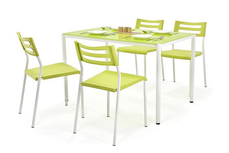 FIGARO zestaw stół + 4 krzesła limonkowy (1p=1kpl)