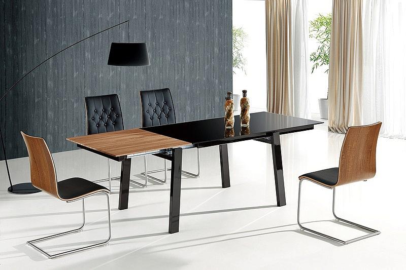 BENEDIKT stół rozkładany czarny/orzech (2p=1szt)